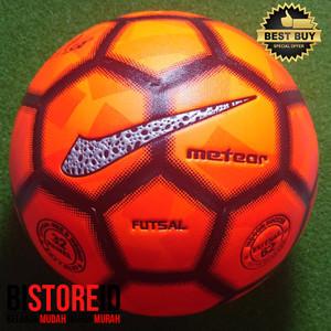 Bola Futsal Kansa Meteor Panel Press Orange Stabilo Replika Nike Menor