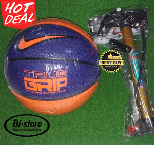 Bola Basket Nike Versa Tack / True Grip Blue Orange + Pompa Besi