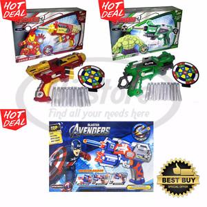 Mainan Pistol Soft Gun Super Hero Avenger Captain America