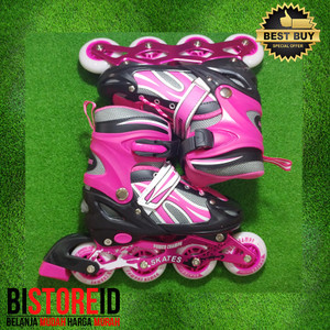 Sepatu Roda Power Champs Chrome Frame Fancy Colours Pink Original