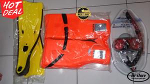 Paket Mask Snorkeling Speed Polarize + Life Jaket + Fin Besar Murah