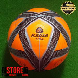 Bola Futsal Kansa Panel Press Model Molten Orange Stabilo