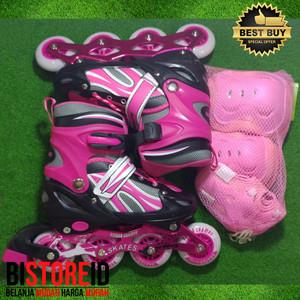 Sepatu Roda Power Champs Chrome Frame Fancy Colours Pink + Dekker