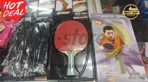 Bat Ping pong Tenis Meja DHS 5002 Free Tas