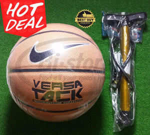 Bola Basket Nike Versa Tack / True Grip Brown Mantap + pompa besi