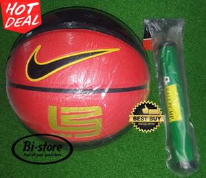 Bola Basket Nike 123 PU Kulit Grade Super MANTAP + Pompa Murah
