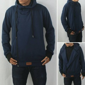 jaket sweater hoodie zipper harakiri navy