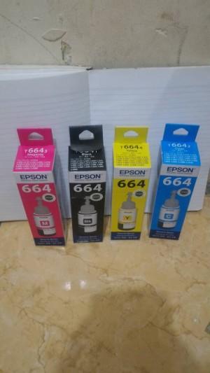 Tinta Printer Epson Original T664 T6641 T6642 T6643 T6644 / L series