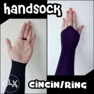 handsock cincin / sarung tangan cincin / fingerless