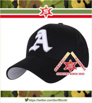 Topi Baseball Raphel bordir Alphabets A forTopi Baseball warna Hitam