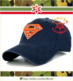 Topi Baseball Raphel bordir Superman warna Navy