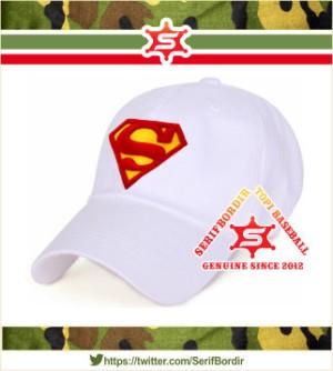 Topi Baseball Raphel bordir Superman forTopi Baseball warna Putih