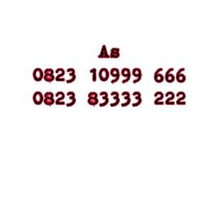 Nomor Cantik As Seri Double AAA 0823 10 999 666 0823 83333 222 #Ny