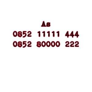Nomor Cantik As Seri Double AAA 0852 11111 444 0852 80000 222 #Ny
