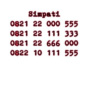 Nomor Cantik Simpati Seri double Triple 000 111 333 555 666 #Ny