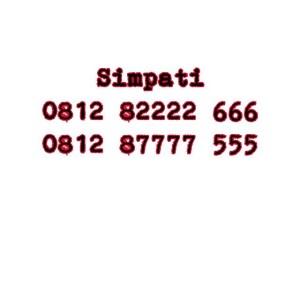 Nomor Cantik Simpati Seri Double AAA 0812 82222 666 0812 87777 555 #Ny