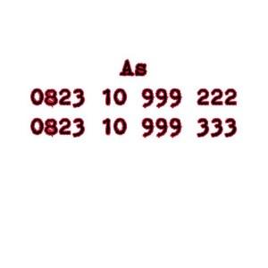 Nomor Cantik As Seri Double AAA 0823 10 999 222 0823 10 999 333 #Ny
