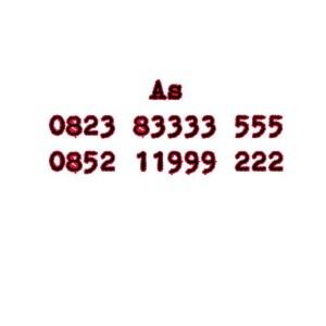 Nomor Cantik As Seri Double AAA 0823 83333 555 0852 11 999 222 #Ny