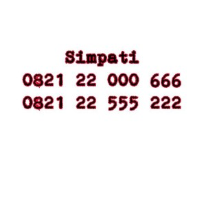 Nomor Cantik Simpati Seri double AAA 0821 22000 666 0821 22555 222 #Ny