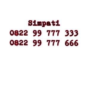 Nomor Cantik Simpati Seri double AAA 0822 99777 333 0822 99777 666 #Ny
