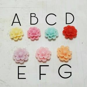 Charm Bunga flower beads plastik