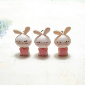 Charm Love Bunny bahan gelang armcandy charm kelinci