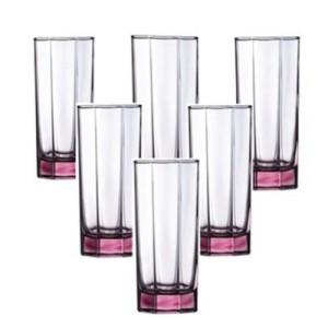 LUMINARC Gelas Octime Pink L0544 Set of 6 280ML - Pink