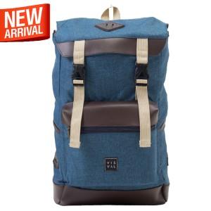 Visval CANYON CORAL BLUE Backpack / Tas Ransel Laptop Pria Wanita