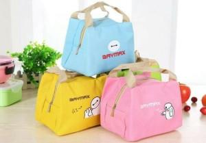 BAYMAX Lunch Bag Cooler Bag Bonus 2pcs Jelly Ice Cooler Murah