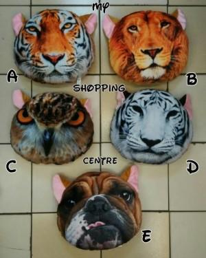 Bantal Harimau, Singa, Burung Hantu 3D Berkualitas