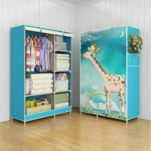 03 Giraffe Multifunction Wardrobe Cloth Rack with Cover Murah