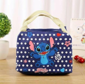 Stitch Lunch Bag Cooler Bag Bonus 2 Pcs Ice Jelly Coole Murah