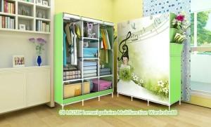 07 Music Lemari Pakaian Multifunction Wardrobe with Cov Diskon