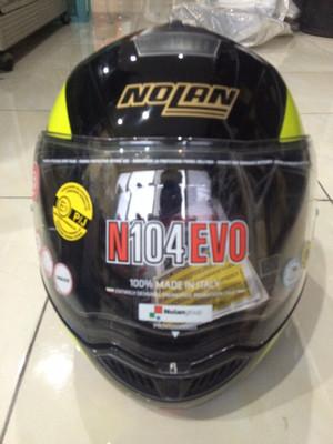 Nolan N104 Evo Black strip Yellow