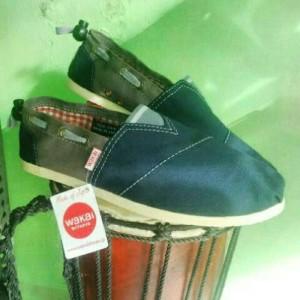 Sepatu New Wakai Black Grey Women Grade Ori Lokal