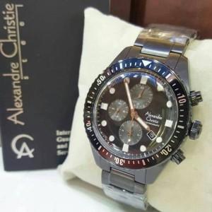 Jam Tangan Alexandre Christie AC6442 Pria Original Black