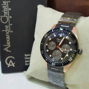 Jam Tangan Alexandre Christie AC6442 Wanita Original Black Rosegold