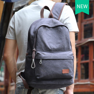 NEW 2016 Men Male Canvas Backpack College Student School Backpack Bags