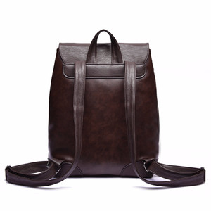 NEW Fashion Backpack Cowhide Leather Back Bag Business Shoulder Men Ba