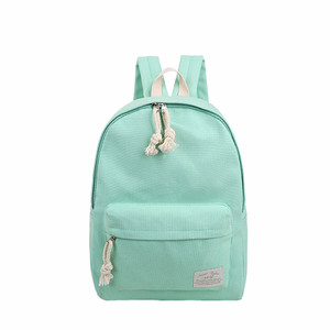 NEW Girls Student Pure Color Multi-purpose Canvas Schoolbag School Out