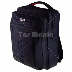 NEW Gress Emboss Backpack - Hitam + Gratis Tas Selempang Captain Comma