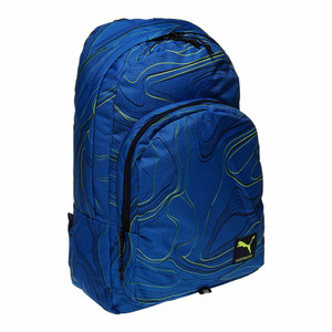 NEW Puma Academy Backpack - Electric Blue Lemonade-Allover Lines LZD