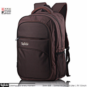 NEW Inficlo Ransel Pria Laptop Sleeve free Raincoat / Raincover SMM Br