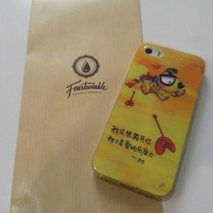 Case iphone 5 5s Dog cupid casing lucu soft