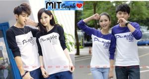 Pusple LP (hitam,biru),lngn panjang,baju couple,kaos oblong couple
