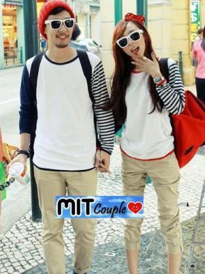 Stripe Romance,salur,polos,baju couple,kaos oblong couple