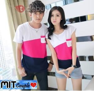 Cross 3w,3 tone couple,baju couple,kaos oblong couple,