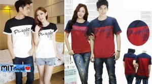 Cp Pusple (putih,merah),baju couple,kaos couple,oblong,