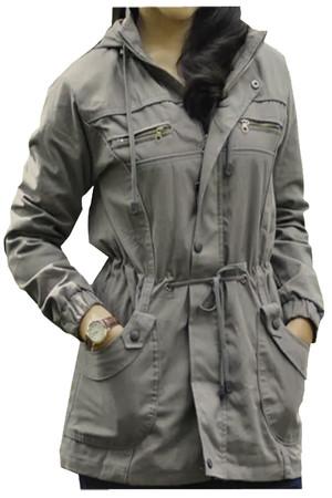 Jaket parka wanita abu/allcolour