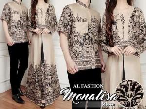 Cp couple Monalisa Brown batik rayon print MURAH PROMO